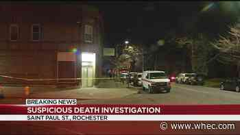 Police investigating suspicious death on St. Paul Street