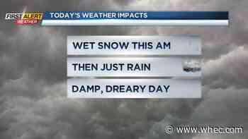 First Alert Weather Snapshot: Morning snowflakes