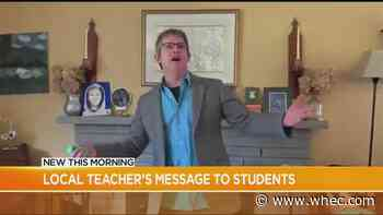 VIDEO: Local high school teacher sings to students