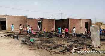 Sechura: Incendio urbano deja tres familias afectadas en Vice - Diario Correo