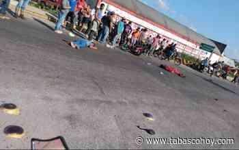 Chocan a motociclista y arrollan a menor de edad en Huimanguillo - tabasco hoy