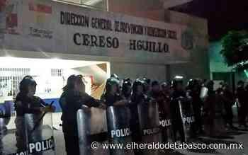 """Aplican operativo """"Cárcel Segura"""" en el Cereso de Huimanguillo - El Heraldo de Tabasco"""