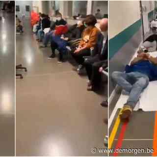 Patiënten liggen op de grond in overvolle Spaanse ziekenhuizen