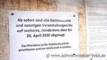 Haigerloch: Die Osterfeiern der Katholiken fallen aus - Haigerloch - Schwarzwälder Bote