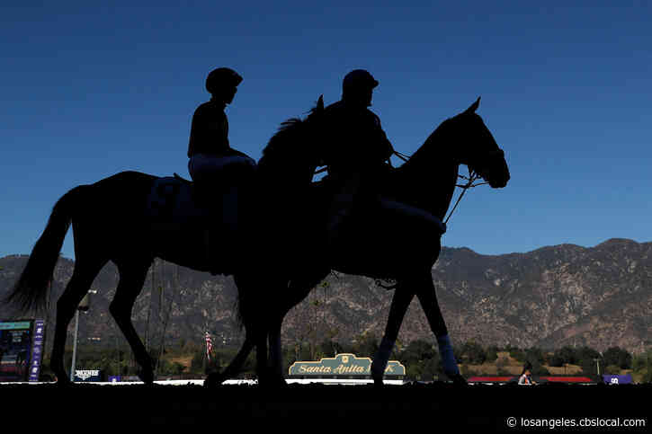 Closed-Door Horse Racing Continues At Santa Anita