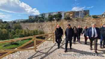 Bari, stamattina il sindaco Decaro e il direttore di Asset Puglia Sannicandro al sopralluogo nella ex cava di Maso per la conclusione dei lavori di consolidamento - Puglia News 24
