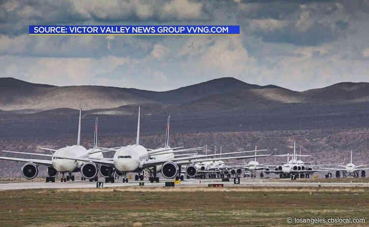 Coronavirus: Empty Jets Parked At Victorville Airport