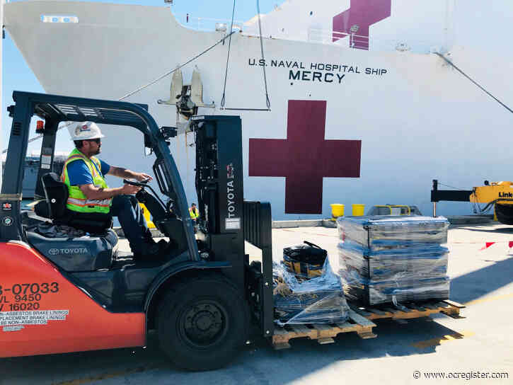 USNS Mercy, a floating hospital, leaves San Diego for Los Angeles on Monday