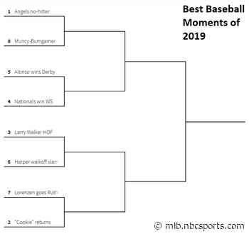 Bracket: Best baseball moments of 2019