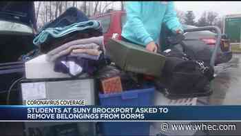 SUNY Brockport students pack up their dorms