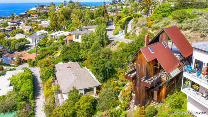 Laguna Beach home with bridge entrance, distant ocean views, seeks $1.6 million