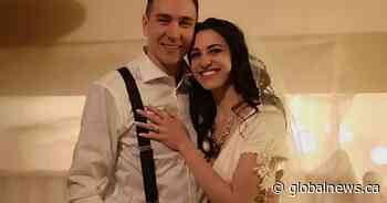After 3 wedding cancellations due to COVID-19, Edmonton couple ties the knot at home