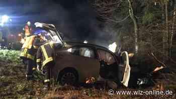 Bottendorf: BMW prallt gegen Baum - Integriertes Notrufsystem alarmiert die Rettungskräfte - wlz-online.de