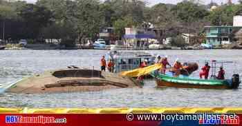 Se registra hundimiento de barco pesquero en el río Pánuco de Tampico - Hoy Tamaulipas
