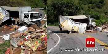 Acidente com caminhão deixa três feridos em Santa Maria Madalena - SF Notícias