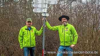 Wildberg: Wegweiser kann imNotfall Leben retten - Wildberg - Schwarzwälder Bote