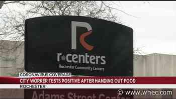 City of Rochester employee handing food to children last week tests positive Monday