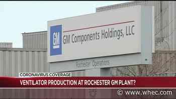 Federal lawmakers urge GM to retrofit Rochester plant to make ventilators
