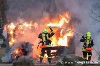 Einsatz in Annaberg-Buchholz: Schuppen geht in Flammen auf - Freie Presse