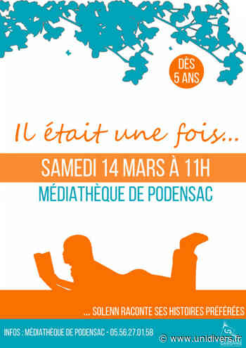 Solenn raconte ses histoires préférées à la médiathèque de Podensac 14 mars 2020 - Unidivers