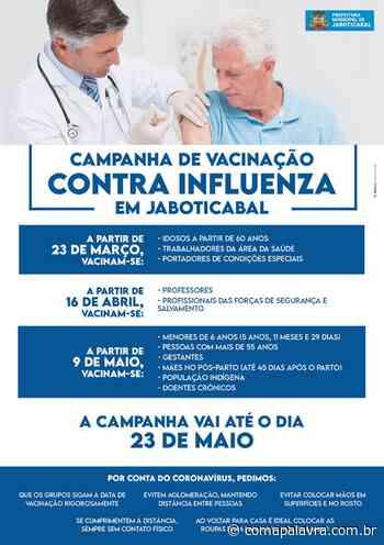 Jaboticabal: amanhã tem vacinação contra influenza - Com a Palavra