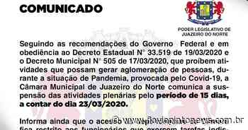 Câmara Municipal de Juazeiro entra de recesso por 15 dias - Flavio Pinto