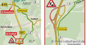 VERKEHR: B 51-Anschlussstelle bei Stadtkyll erneut gesperrt - Trierischer Volksfreund