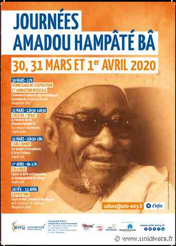Journées Amadou Hampâté Bâ Université d'Évry – Bât Maupertuis – Hall 30 mars 2020 - Unidivers