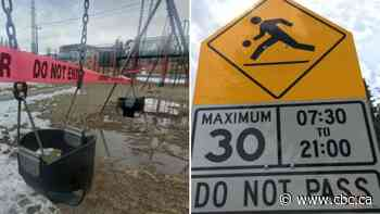 Attention Calgary drivers: Playground equipment may be closed, but speed limits are still in effect