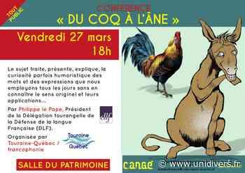 Conférence : « Du coq à l'âne » Médiathèque de Cangé Saint-Avertin 27 mars 2020 - Unidivers