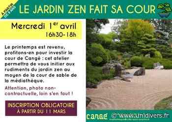 Le jardin zen fait sa cour Médiathèque de Cangé 1 avril 2020 - Unidivers