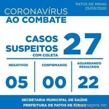 Patos de Minas registra 27 casos suspeitos de Covid-19 nessa quarta-feira (25/03); ainda não existem casos confirmados - Patos Agora