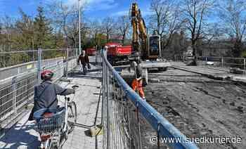 Radolfzell: Arbeiten an der Konstanzer Brücke gehen unvermindert weiter - SÜDKURIER Online
