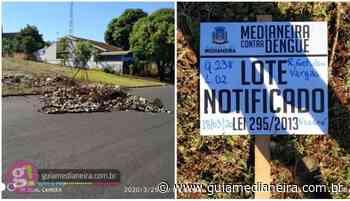 Medianeira: Proprietário de Lote Notificado joga lixo e entulhos no meio da rua - Guia Medianeira