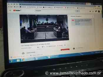 Sessões da Câmara estão suspensas até 7 de abril - Jornal de Vinhedo