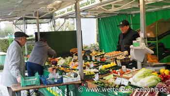 Karben: Wochenmarkt in Corona-Zeiten - Kundennähe trotz Abstand | Karben - Wetterauer Zeitung