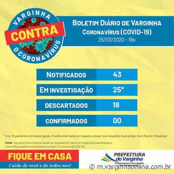 Números atualizados: Varginha tem 25 casos suspeitos de coronavírus; 8 pessoas estão internadas - Varginha Online