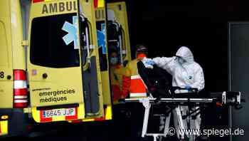 Spanien: Krankenwagen mit Covid-19-Patienten mit Steinen beworfen - DER SPIEGEL