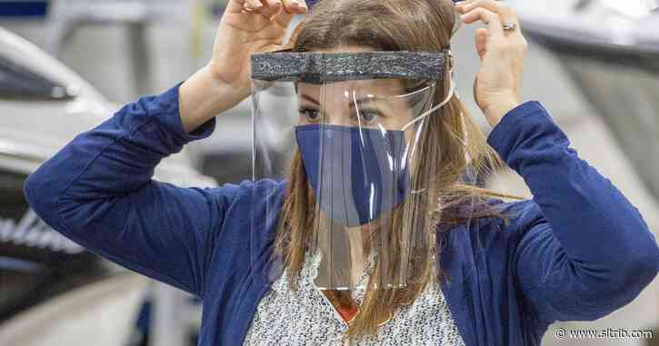 Utah manufacturer shifts from boat canopies to face shields for health workers