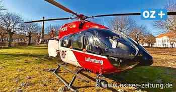 Unfall in Putbus: Helikopter bringt schwerverletzte Autofahrerin ins Klinikum - Ostsee Zeitung