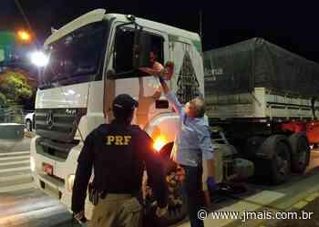 Unidade operacional da PRF em Rio Negrinho é usada para distribuir marmitas a caminhoneiros - JMais