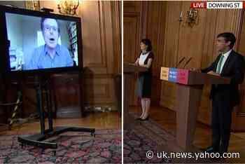 Robert Peston 'swears' during the Government's live daily coronavirus briefing
