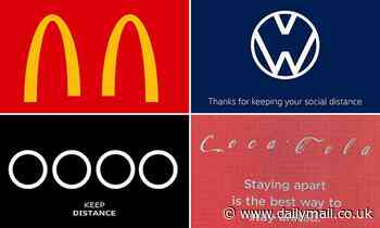 Coca-Cola, Audi and Volkswagen create new 'social distancing' logos