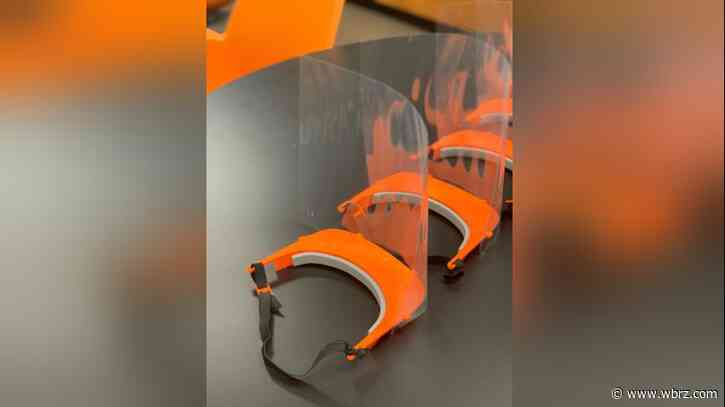 Cleco helps Louisiana College make face shields for local hospitals