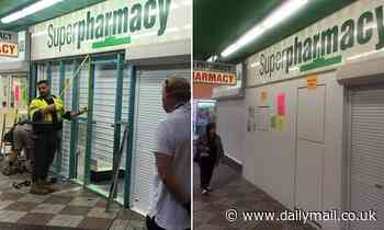Superpharmacy boards up shops and bans customers from stores following coronavirus panic buying