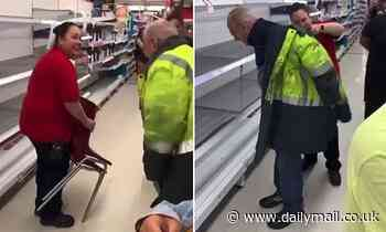 Coles manager goes above and beyond the call of duty by handing out chairs and jackets to customers