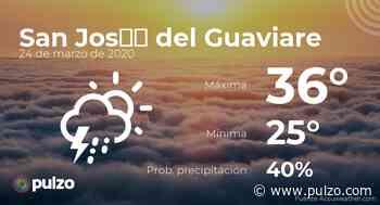 El clima para hoy en San José del Guaviare, 24 de marzo de 2020 - Pulzo