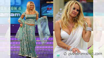 Pamela Anderson in Lehenga or Saree: Which one suits her more? - Global News Hut