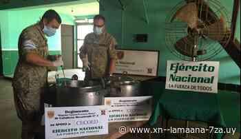 Ejército Nacional y voluntarios distribuyen platos de comida en Tranqueras - La Mañana