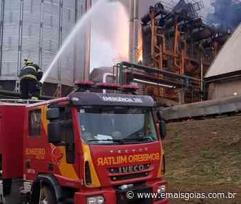 Incêndio atinge secador de soja em Ipameri - Mais Goiás